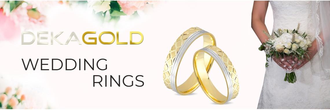Dekagold wedding rings